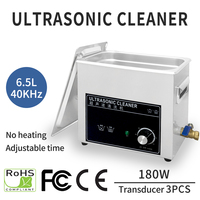 6.5L 180W Ultrasonic Cleaner Bath Injector Engine Auto Parts Medical Lab Ultrasound Cleaning Machine PCB Cleaner Washing