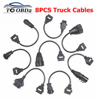 Truck Cables CDP Pro OBD2 OBDII Trucks Diagnostic tool connect cable 8 PCS Trucks Cables For TCS CDP Plus