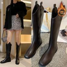 Новые сапоги и бархатные на среднем каблуке но корейские рыцарские