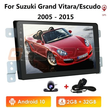 Car Head Unit For Suzuki Grand Vitara 3 2005 2012-2015 Car Radio Multimedia Video Player Navigation GPS Android 10 2+32 4G WIFI image