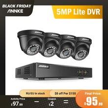 ANNKE 4CH H.265 + 5MP Lite Hệ Thống CAMERA QUAN SÁT ĐẦU GHI 4 2.0MP HỒNG NGOẠI Nhìn Đêm An Ninh Dome Camera 1080P giám Sát Video Bộ