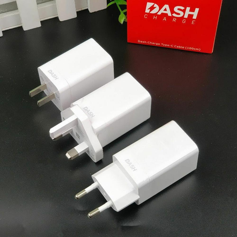 For ONEPLUS 3 3T 5 5T 6T 6 Dash Charger,5V 4A USB Quick Charge Adapter + 100CM/150CM Noodle Dash Cable EU/US/UK Plug