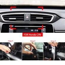 Honda CRV için CR V 2017 2018 2019 araba özel cep telefon tutucu hava firar dağı Cradle GPS braketi dekoratif oto aksesuarları