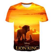 2020 NEUE Film königreich König Der König Der Löwen Simba 3D kinder tragen Junge/mädchen kinder Casual t shirt kurzarm Kleidung