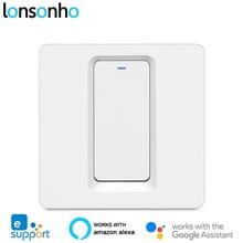 Lonsonho EweLink Thông Minh Phát Wifi 1 2 3 Băng Đảng Đẩy Nút EU Anh 220V Điều Khiển Từ Xa Không Dây Hoạt Động Với alexa Google Nhà Tmall