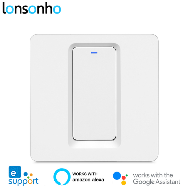 Lonsonho eWeLink Smart Wifi Interruttore 1 2 3 Gang Pulsante EU UK 220V Telecomando Senza Fili Funziona Con alexa Google Casa Tmall