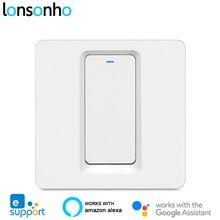 Lonsonho eWeLink חכם Wifi מתג 1 2 3 כנופיית לדחוף כפתור האיחוד האירופי בריטניה 220V אלחוטי שלט רחוק עובד עם alexa Google בית Tmall