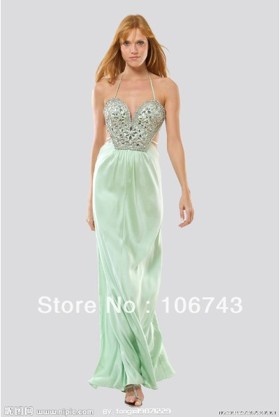 Free Shipping 2018 New Design Vestido De Festa Sexy Backless Long Formal Crystal Pageant Elegant  Party Gown Bridesmaid Dresses