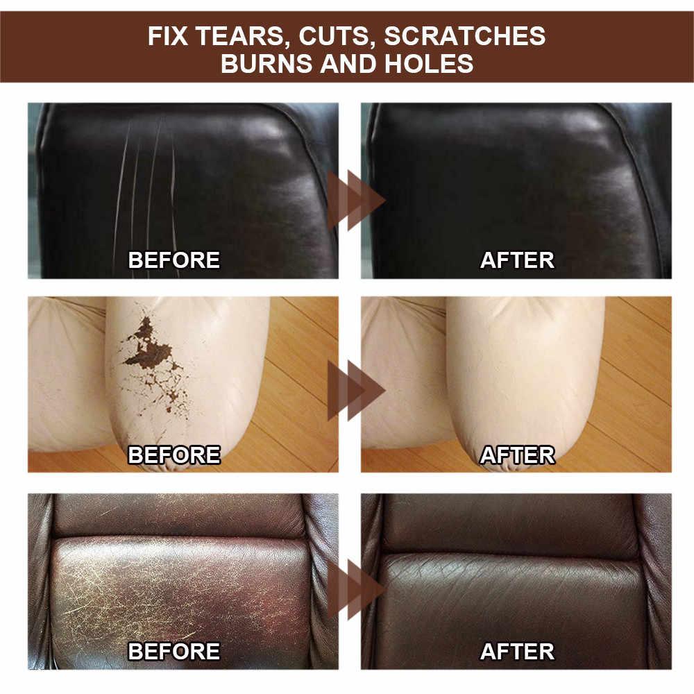 38 #20 Ml Leer Reparatie Kit Reparatie Kras Voor Autostoel Sofa Jassen Holes Scratch Scheuren Vloeibare Leder Vinyl reparatie Kit Diy