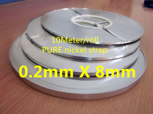 10Meter 0.2mm X 8mm Pure Nickel Strip Tape For Li 18650 Battery Spot Welding Compatible For Spot Welder Machine
