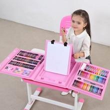 176 adet renkli kalem sanatçı seti seti boyama mum boya işaretleyici kalem fırça çizim alet takımı anaokulu malzemeleri hediye için sıcak satış