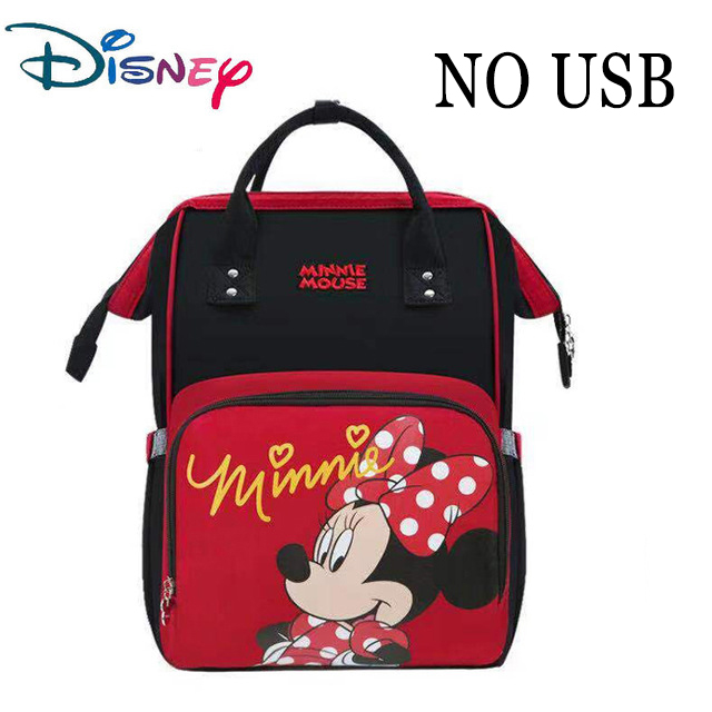Disney Lovely Pre-deisgn Baby USB Diaper Bags For Mom Baby Bag Backpack Maternity Waterproof Mummy Handbag Nappy Bag Organizer