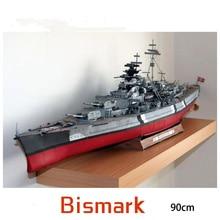 Paper Bismarck Battleship Warship Model Toys Handmade DIY creative show props tide Collection Military Gift 90CM