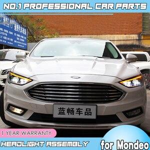 Image 4 - Accessoires de voiture pour Ford Mondeo LED, 2016, 2018, phare pour feux de Fusion, clignotant dynamique, DRL, bi xénon HID, LED