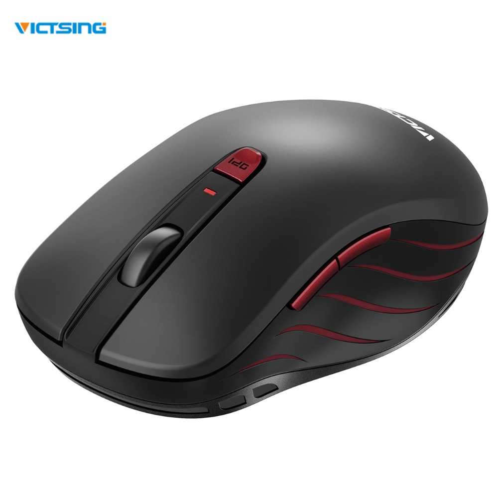 VicTsing 2.4G Wireless Mouse With Nano USB Receiver 6 Buttons 5 DPI Levels For Notebook PC Laptop MacBook Windows 10 Vista Mac