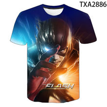2021 New Summer The Flash 3D Casual Boys And Girls Children's Fashion Street Style Men's Printed Cool Top T-Shirt 130-6XL