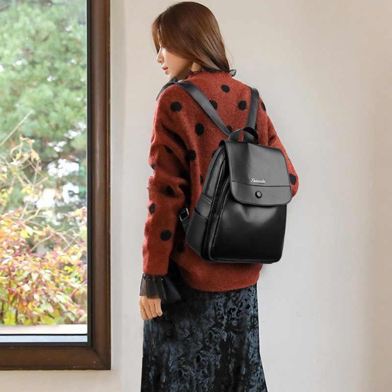 Nieuwe Mode Dame Tas Anti-Diefstal Vrouwen Rugzak 2020 Hoge Kwaliteit Pu Rugzakken Vrouwelijke Grote Capaciteit Vrouwen Schoudertas tassen 0P30
