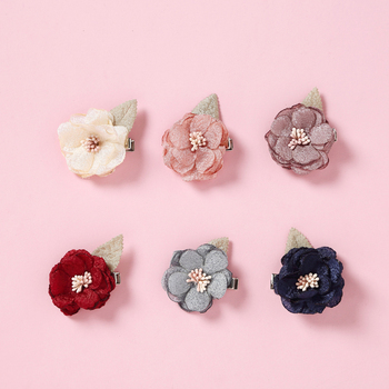 Cute Flower Princess Hairpin Kids Girls Hair Clips Bows Barrette Baby Girl Accessories for Children Hairclip Headdress Hair mini hat lace flower kids girls hair clips barrette style accessories for children hair hairclip ornaments hairpins head gifts