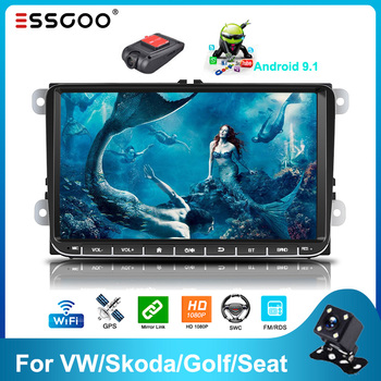 Essgoo Android 9.1 Car Radio 9'' 2GB/1GB RDS AM DAB GPS Navigation 2din Autoradio WIFI Bluetooth Universal Car Multimedia Player