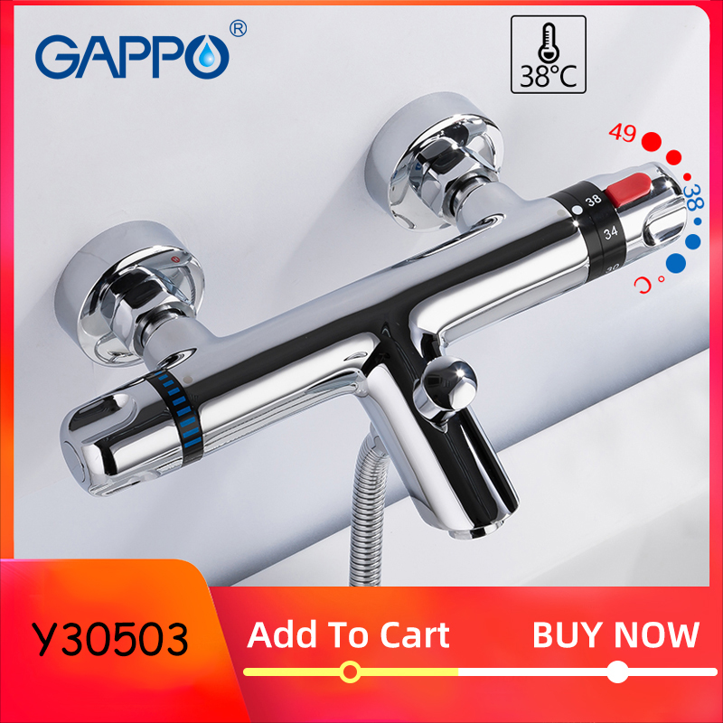 GAPPO Bathtub Faucet Thermostatic Faucet Bathroom Mixer Tap Bath Faucets Waterfall Taps Bath Bath Set Bathroom System