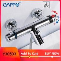 Grifo de bañera GAPPO  grifo termostático Mezclador de Baño  grifos de cascada  juego de baño  sistema de baño