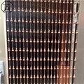20 pçs 1 m estilo chinês novo grânulos de madeira cristal cortina comprimento largura da sala estar decoração