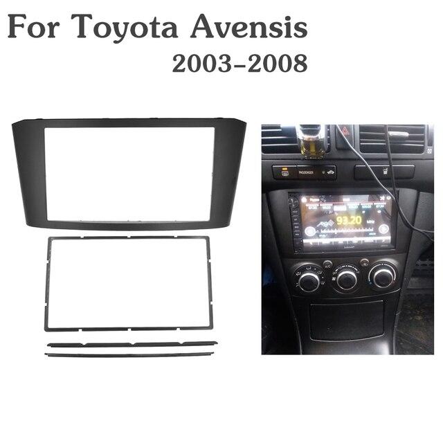 TOYOTA Avensis 프레임 패널 용 Double 2 Din Car Radio Fascia 스테레오 페이스 플레이트 오디오 베젤 Facia dash Mount Kit 어댑터 트림