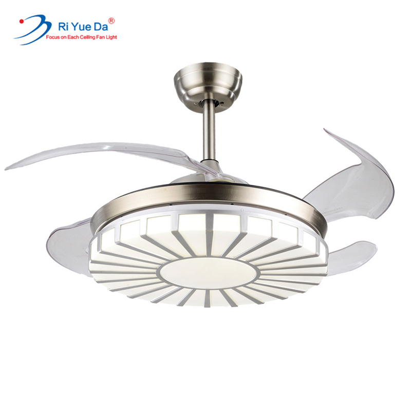 Riyueda Best Brand Fancy Remote Control And Led Ceiling Fan With Light Discounts Price