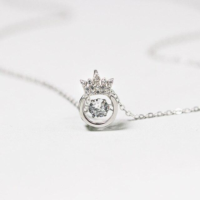 INALIS nouveau 925 collier en argent sterling mode créative diamant incrusté pendentif chaîne de clavicule