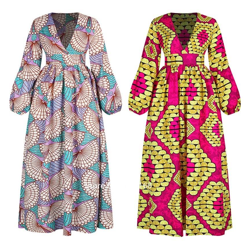 @Kasi V neck african dress 1