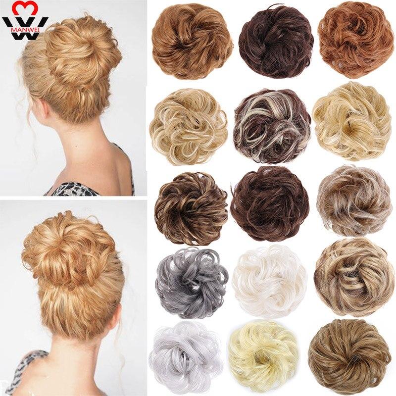 Грязные резинки, Пончик шиньон, синтетические волосы, пучки, прямые, эластичная лента, наращивание волос, термостойкие шиньоны для женщин|Синтетический шиньон|   | АлиЭкспресс