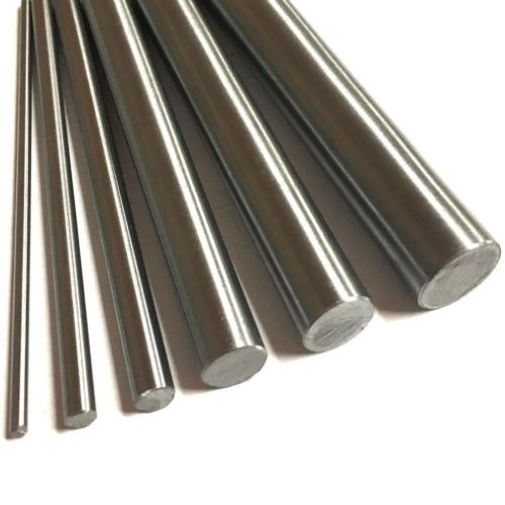 100/200/300/500mm 304 Stainless Steel <font><b>Rod</b></font> Bar Linear <font><b>Shafts</b></font> <font><b>5mm</b></font> 6mm 7mm 8mm 9mm 10mm 12mm 15mm Dia Metric Round Bar Ground Stock image