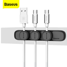 Baseus – enrouleur de câble USB magnétique, pince de rangement pour station de travail de bureau, protecteur de fil, support de câble de gestion