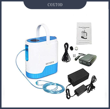 цена на COXTOD Portable Oxygen Concentrator Air Purifier for Healthcare Home Use 1-5L/min with  Battery/Bag/Trolley Oxygen Machine