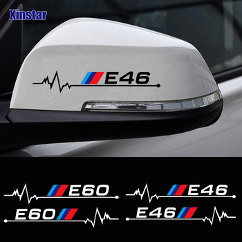 2pcs car rearview mirror sticker for bmw E30 E34 E36 E39 E46 E60 E61E87 E90 E83 F10 F20 F21 F30 F35 image