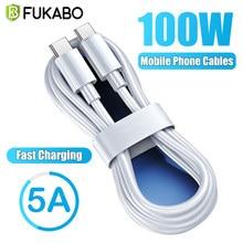 100w usb c para usb tipo c cabo usbc pd carregador rápido cabo USB-C tipo-c cabo para xiaomi nota 10 samsung s21 huawei macbook ipad