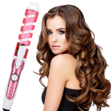 2019 New Magic Hair Curler Spiral Roller Electric Curling Iron Professional Ceramic Curling Wand Salon Hair Styler Styling Tools цены