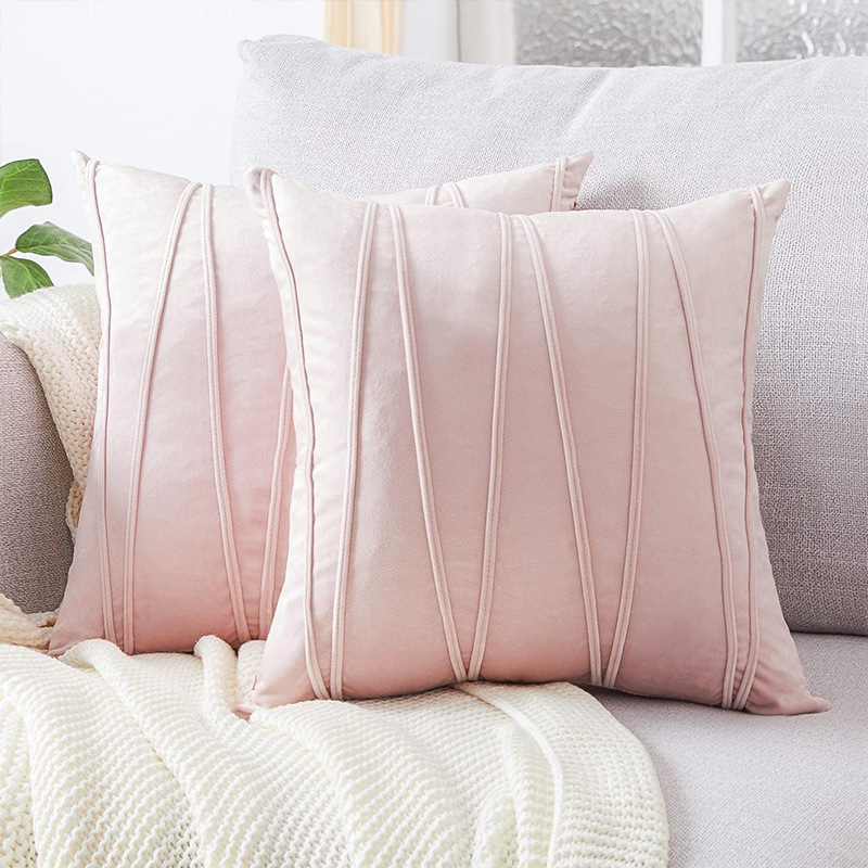 velvet Cushion Cover 45x45cm Grey/Pink/Beige Covers For Cushions Home Decor Retro Modern Nordic Throw Pillow Cover 45x45