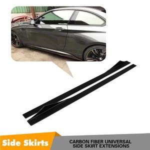 Lateral De Fibra de carbono Bumper Lip Para BMW F30 F80 F10 G30 M2 M3 M4 M5 Universal Saia Lateral 205 CENTÍMETROS