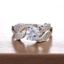 Huitan новые модные кольца с 4 крыльями и блестящим круглым