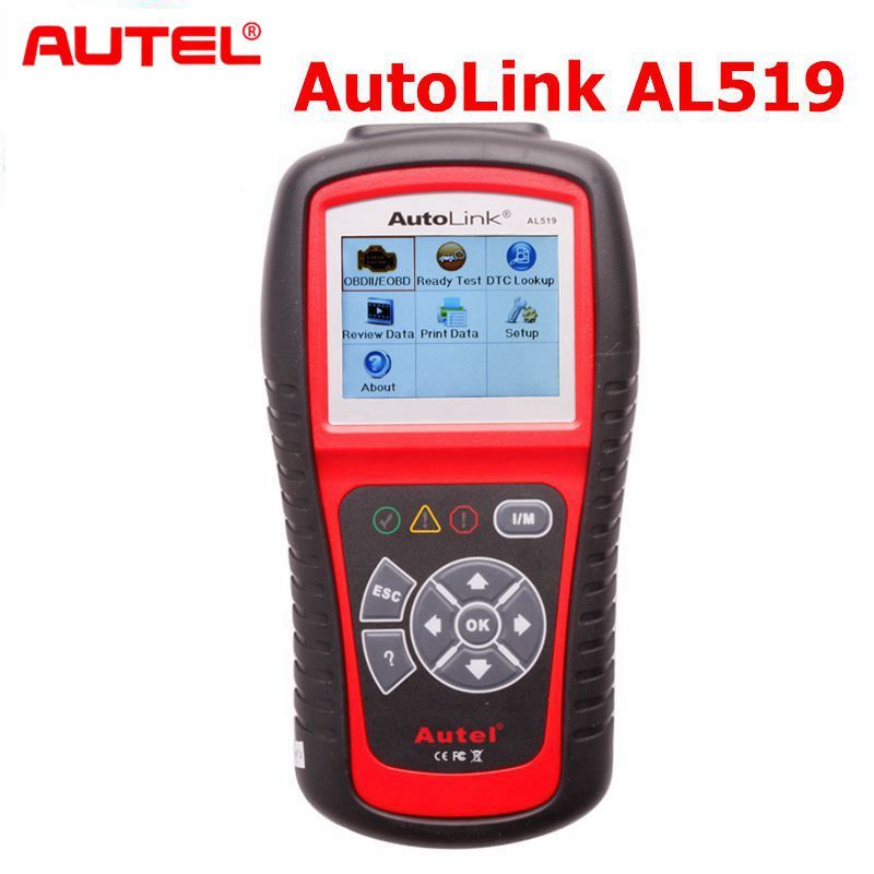 Оригинальный autel AL519 OBD2 автоматический сканер Бортовая Система диагностики 2 автомобиля диагностический сканер Eobd Automotivo автомобильный скан...