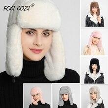 2019 new winter hat women faux fur hat russia hat