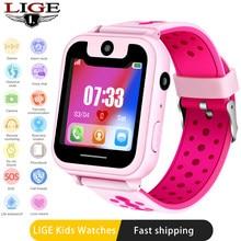 LIGE 2020 Neue kinder smart watch lbs FERN positioning sos NOTFALL handy erinnerung voice-chat unterstützung sim KAMERA