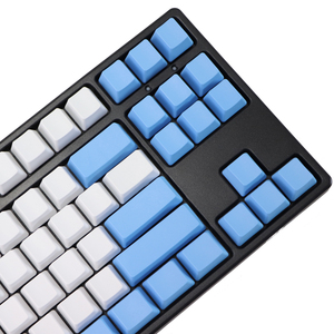 Image 5 - ריק 87 מפתחות ANSI ISO פריסה עבה PBT Keycap לבן כחול טיפת גשם צבע התאמת keycaps OEM