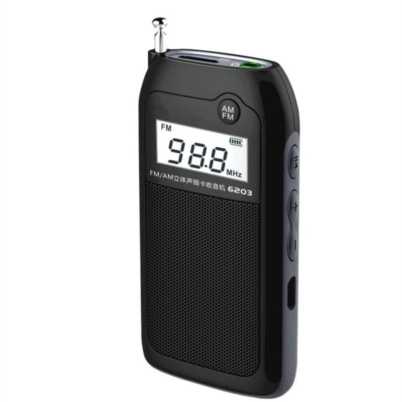 Portable TF carte MP3 lecteur audio baladeur audio mini DSP numérique stéréo radio AM/FM charge radio de diffusion casque haut-parleur