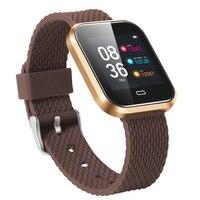 Monitor de freqüência cardíaca relógio inteligente banda de silicone esporte à prova dwaterproof água bluetooth inteligente fitness masculino smartwatch