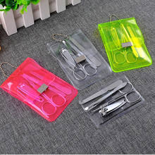 5 stks/set Rvs Nail Care Set Pedicure Schaar Tweezer Knife Oor Halen Utility Nail Clipper Kit Manicure Set Willekeurige(China)