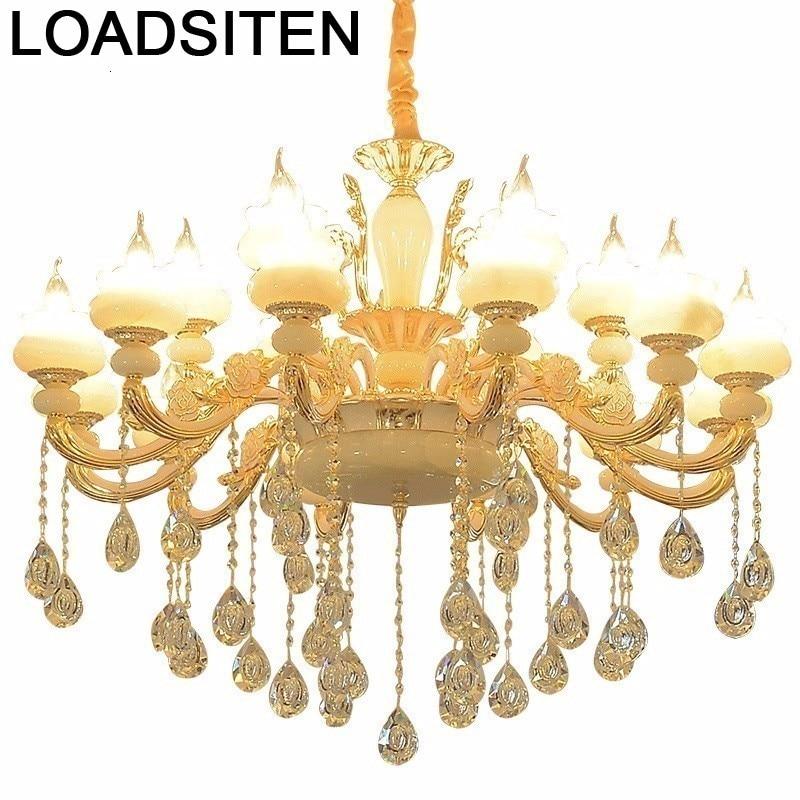 Lumière chair nordique Hanglampen Lustre Pendente Maison cristal Gantung déco Maison Lampen moderne Lampara Colgante suspension