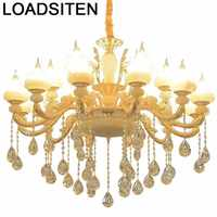 Luz de cuerpo nórdico Hanglampen Lustre Colgante de cristal para el hogar Gantung Deco