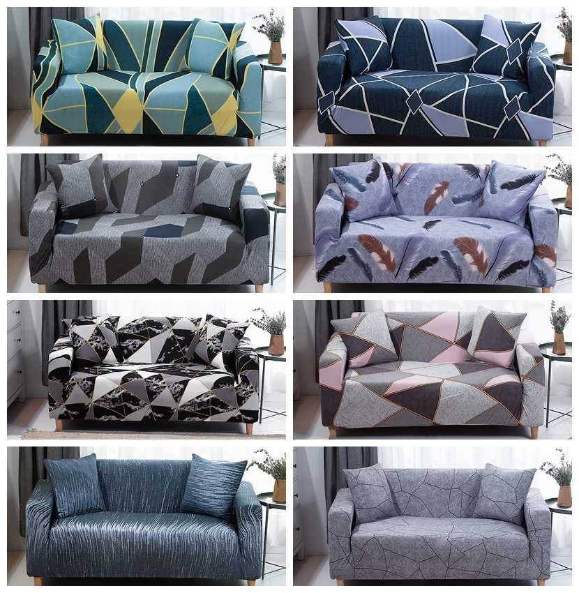 1//2//3//4 Seat Armchair Stretch Sofa Couch Cover Slipcovers Protector Home Decor